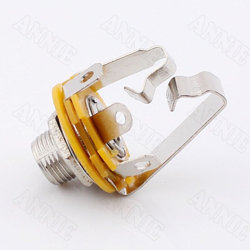 50 pcs/lot 6.5 double piste prise en métal 6.35 Jack stéréo grand trois Core 6.5 connecteur femelle