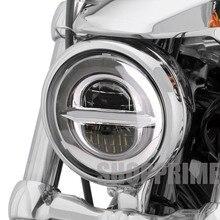 """Стиль хромированный 5,75 дюймовый светодиодный фонарь 5 3/"""" светодиодный DRL 50 Вт мотоциклетные фары для Harley Sportster 883 XL883 FXCW"""