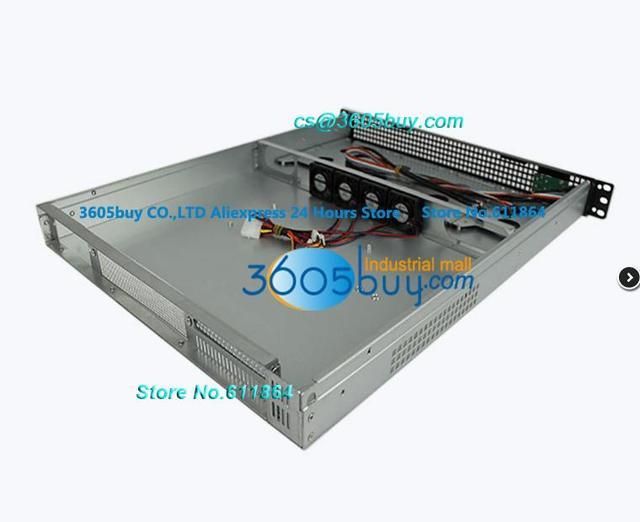 1u155f 1u industrial computer case 1u server 2 hard drive 3 fan