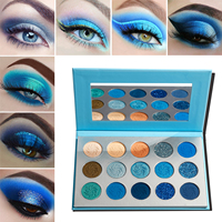 Wholesale Makeup Eyeshadow Pallete Private Label 15 Color Bright Pigmented Glitter Eye Shadow Palette No Logo Make up Palette