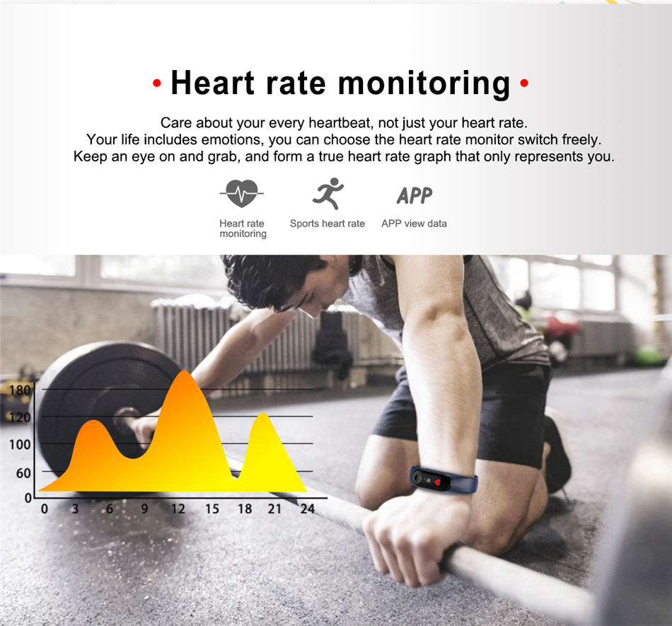 Watch sports intelligent man, woman, camera remote Heart Rate, blood pressure