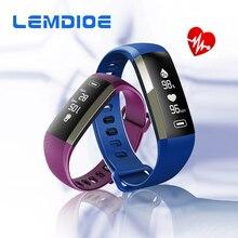 Lemdioe R5Max спортивные сердечного ритма Приборы для измерения артериального давления Мониторы Фитнес трекер Смарт Браслет для Android IOS Телефон