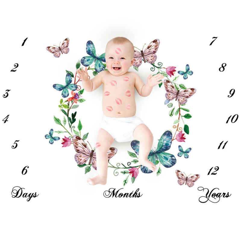 Покрывало для фото для новорожденных, 5 цветов, с крыльями ангела, Хлопковое одеяло с цветочным рисунком для маленьких девочек и мальчиков, для фотосессии