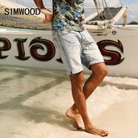 SIMWOOD 2017 Summer Denim Shorts Men Fashion Ripped 100 Pure Cotton Slim Fit Plus Size Hole