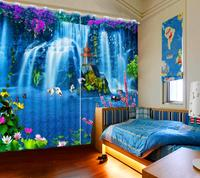 Waterfall scenery 3D Blackout Curtains For Living room Bedroom home curtains 3D Curtain Window