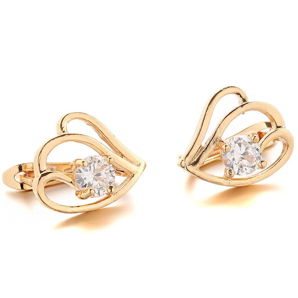 Online Shop 1pcs Copper Zircon Types Of Earrings Jewellery Suit Women Youth  Gold Ear Rings  Aliexpress Mobile