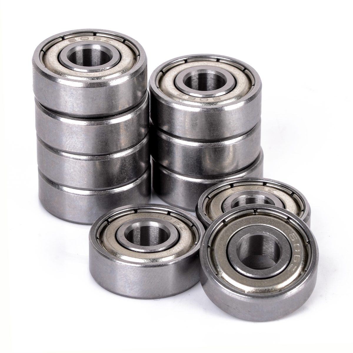 10pcs High Precision  606 ZZ Bearing Metal Miniature Deep Groove Shielded Ball Bearings 6x17x6 mm For Small Motors
