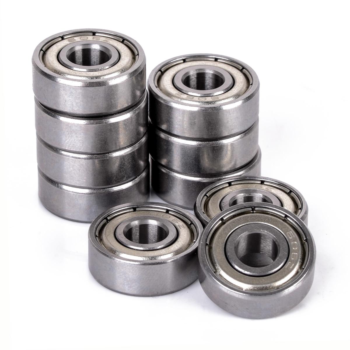 10Pcs//set Metal 606ZZ Miniature Deep Groove Shielded Ball Bearings 6*17*6 mm XS