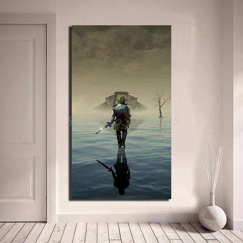 The Legend Of Zelda Link Sword HD Wall Art Canvas Poster And Print Canvas Painting Decorative Picture For Living Room Home Decor