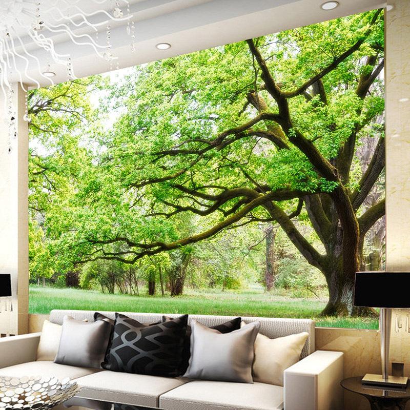 Penjualan Panas Busana Hutan 3d Wallpaper, Dinding Rumah