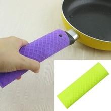 Silicone Pot Pan Handle Saucepan Holder Sleeve Slip Cover Grip Kitchen Utensils
