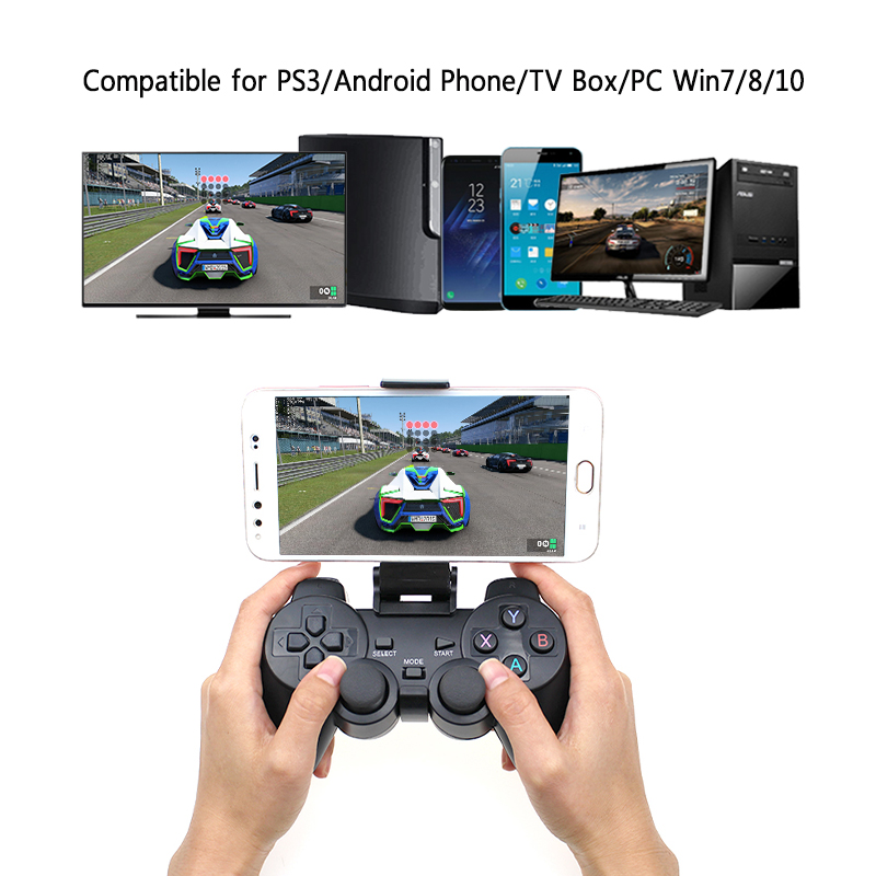 Android Wireless Gamepad för Android Telefon / PC / PS3 / TV Box Joystick 2.4G USB Joypad Game Controller för Xiaomi Smart Phone