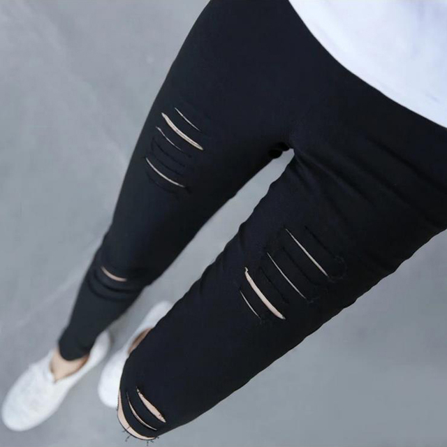 2016 New Fashion Lage size Women's Novelty Hollow Leggings pants Solid Pencil  leggings  Elastic Hollow Slim Leggins For Lady