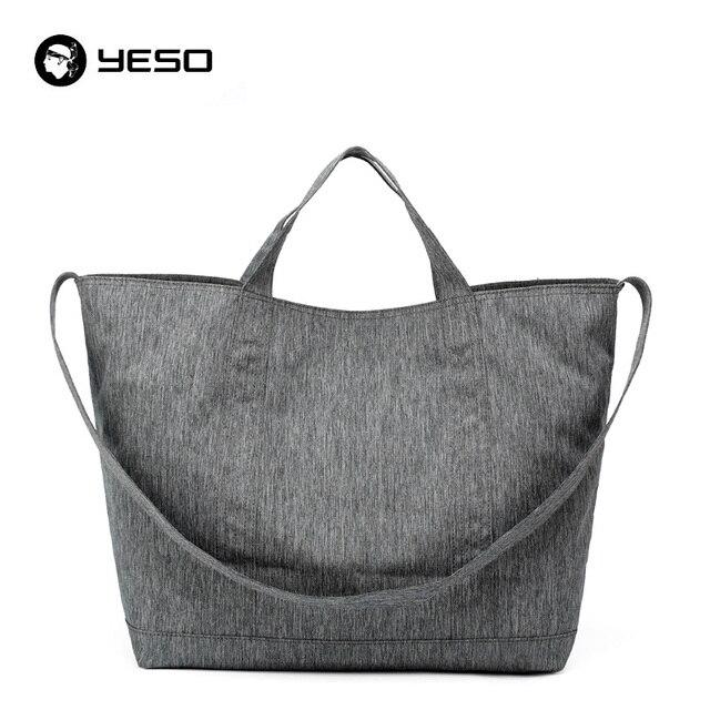 YESO большой емкости тотализатор пляжные сумки 37.2L сумки Женщины/Мужская Повседневная сумка-шоппер Оксфорд водонепроницаемый путешествия повседневные сумки на плечо