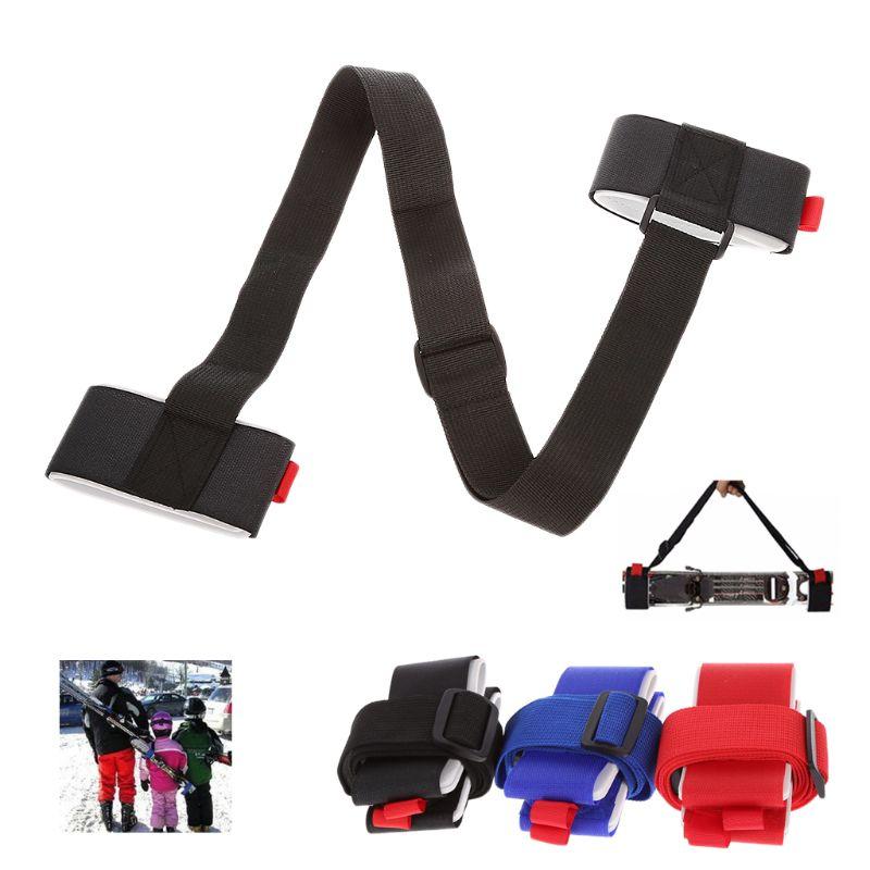 Adjustable Skiing Pole Shoulder Carrier Handle Strap Bag Ski Snowboard Handbag 10166