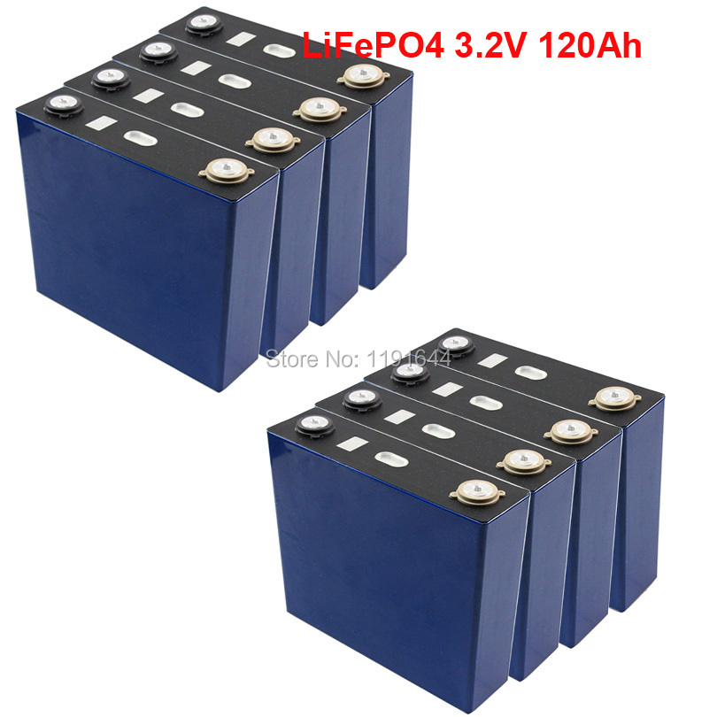 24PCS/LOT 3.2V 120Ah LiFePO4 3500 Times LifeCycles Max 3C For Solar Energy Storage Battery pack E-Bike battery24PCS/LOT 3.2V 120Ah LiFePO4 3500 Times LifeCycles Max 3C For Solar Energy Storage Battery pack E-Bike battery
