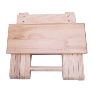 Image 4 - كرسي الشاطئ المحمولة بسيطة خشبية كرسي بلا ظهر قابل للطي أثاث خارجي كراسي الصيد الحديثة كرسي تخييم صغير البراز