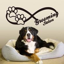 Infinity Sign Dog Wall Window Decals  Animals Pet shop Grooming Salon Print Glass Sticker Vinyl Art Decor