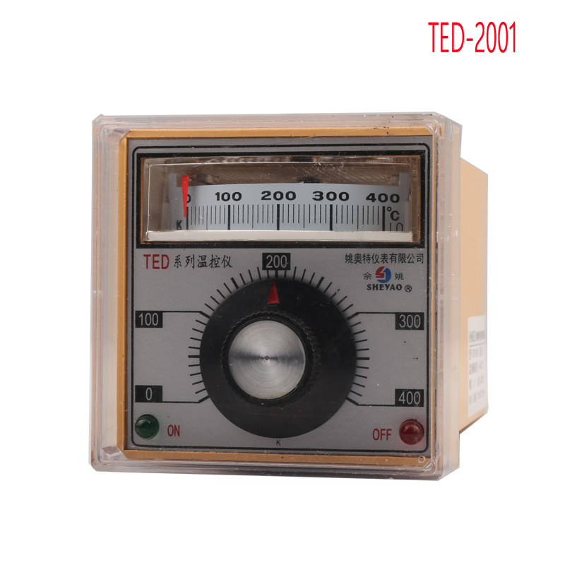TED-2001 pointer temperature controller , 0-400 degrees celsius K type thermostat