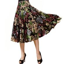 Spódnica letnia casual plaża wiatr duży rozmiar w pasie lodowy jedwab sundress spódnica do tańca spódnica linii tanie tanio YANQINGHUAN Modalne Lanon -Line NONE WOMEN DDJH-19SE empire Floral Na co dzień Kolan
