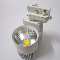 30w Dimmable Led Lights For Clothes 4 Wire 3 Phase Spot Led Track Light 20pcs Warm