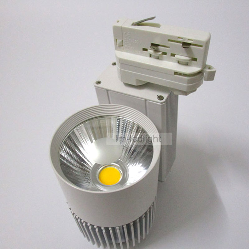 30w dimmable 3 circuit led lights for clothes spot led track light 20pcs  warm/ day/pure white led rail lights