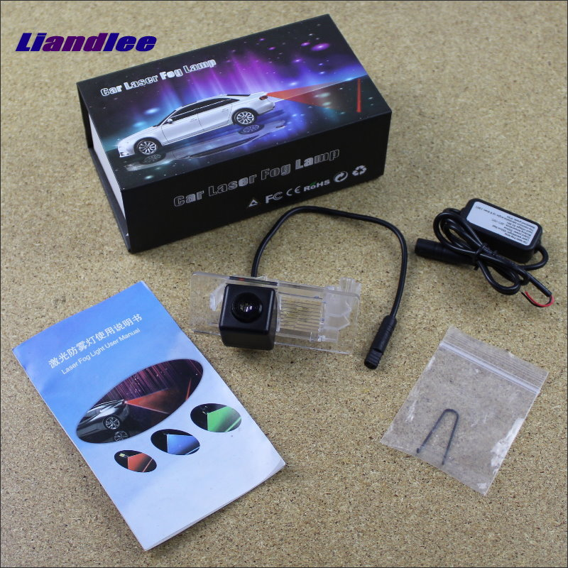 Liandlee Anti Collision Laser Fog Lamps For Skoda Superb 2015~2016 Car Rear Distance Warning Alert Line Safe Drive Lights car tracing cauda laser light for volkswagen vw jetta mk6 bora 2010 2014 special anti fog lamps rear anti collision lights