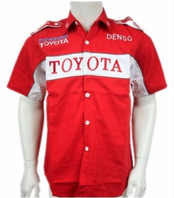 Toyota Denso Red Polo Shirt For Men