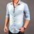 Moda 2017 Homens Denim Camisa Outono Algodão Manga Comprida Casual Slim Homens Chemise Homme Camisa Masculina de Abertura De Cama Colarinho Camisas