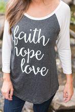 faith hope love tee top womens cute female tshirt t 2018 women t-shirts tops classics comfort elegance shirt vintage