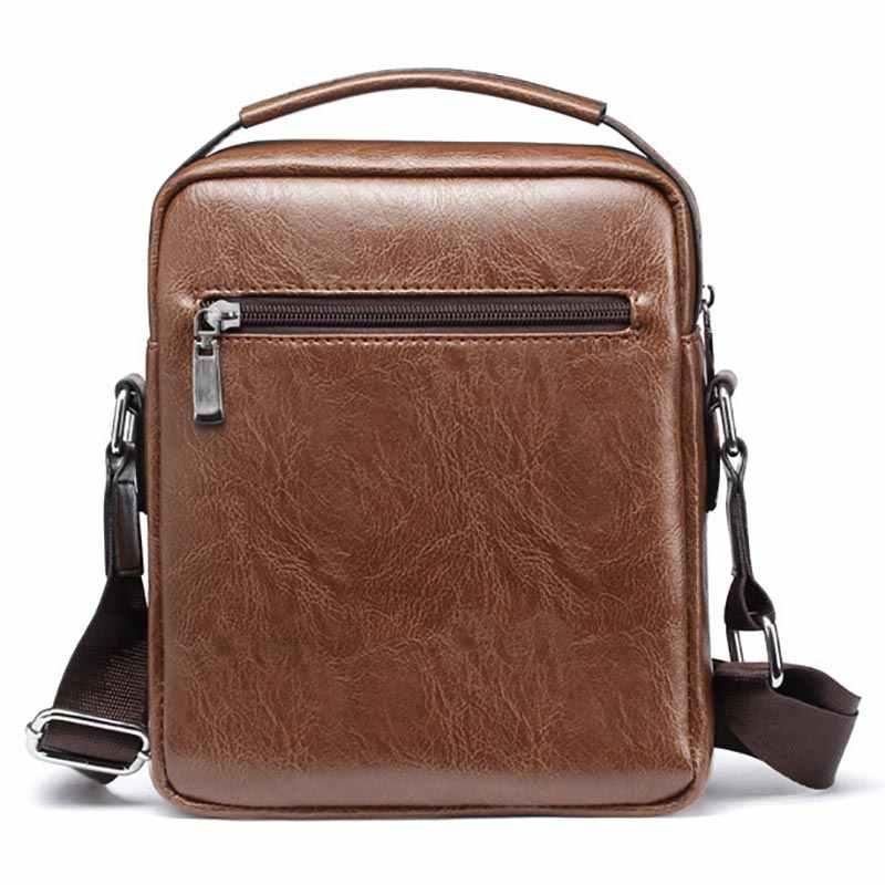حقيبة كتف للرجال صغيرة على أحدث طراز لعام 2019 عالية الجودة من جلد البولي يوريثان حقيبة سفر كاجوال للرجال