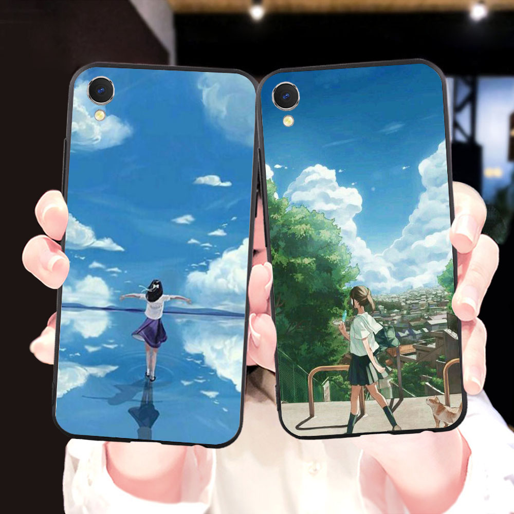 Soft Silicone <font><b>Case</b></font> for <font><b>OPPO</b></font> A5 A37 A39 <font><b>A57</b></font> A59 A73 A83 R9S F9 F5 F7 R11S F11 Pro Cute Anime pretty <font><b>girl</b></font> Phone Cover image