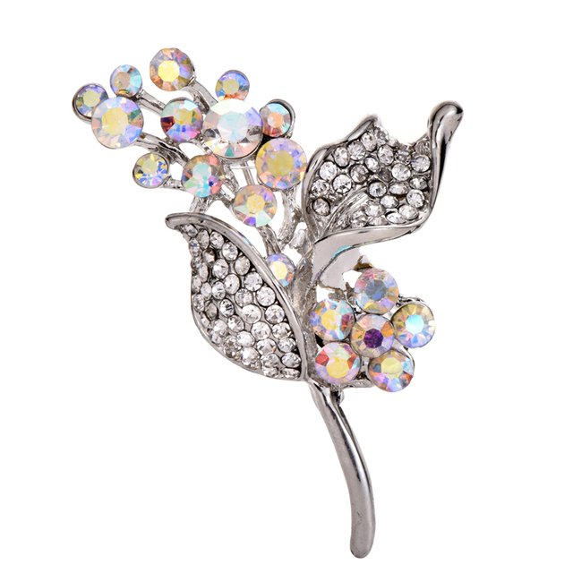 96c9b8a1065b2 US $1.21 30% OFF|New Arrivals Crystal Beads Rose Flower Brooches Pin for  Women Jewelry Dress Accessories Wholesale-in Brooches from Jewelry & ...