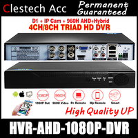 AHDM DVR 4Channel 8Channel CCTV AHD DVR analog Hybrid DVR/720P 1080P NVR 4in1 Video Recorder For AHDL Camera IP Camera HDMI VGA