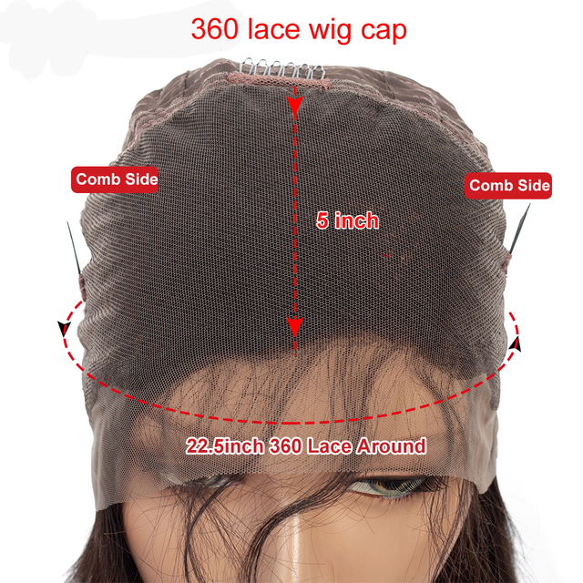 360 Lace Frontal Human Hair Wigs Deep Wave Virgin Indian Hair Pre Plucked For Blank Women With Baby Hair Natural Hairline