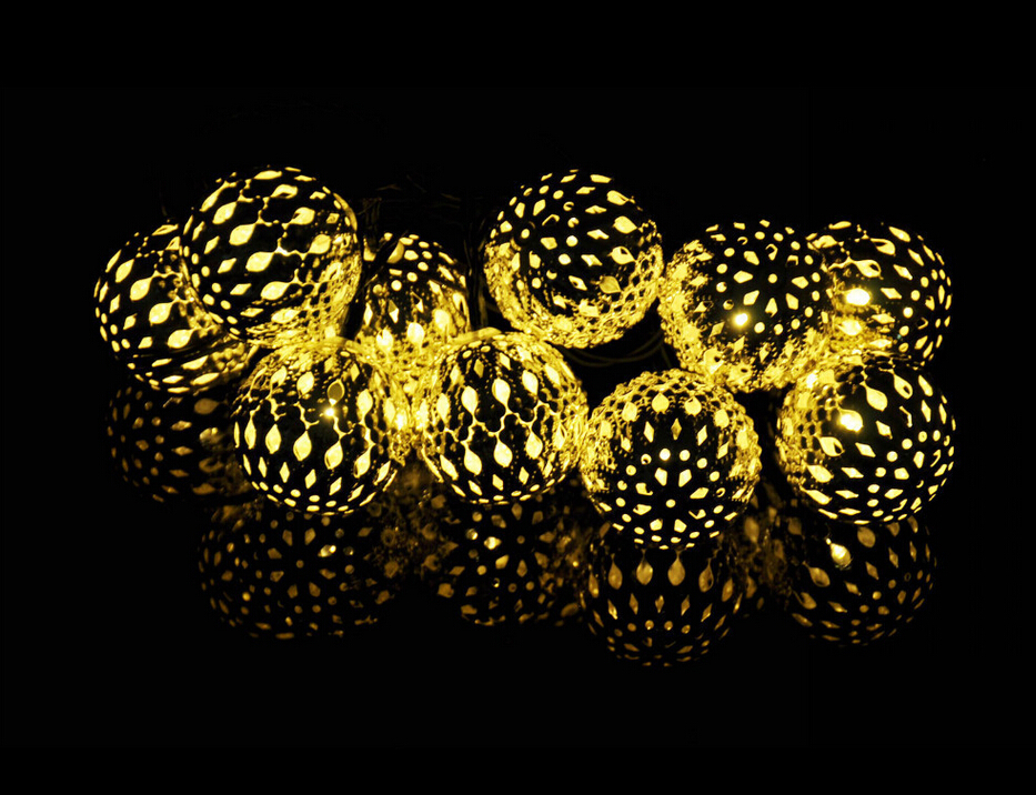 aliexpresscom buy warm white 10 ballsset moroccan string garland christmas lights solar powered led fairy wedding party home decoration lamp from - Led Christmas Lights For Sale