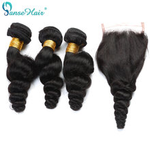 Panse Hair Peruvian Loose Wave Hair Bundles Customized 8 To 30 Inches Factory Direct Same 100% Human Hair Non Remy(China)