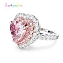 Женское кольцо с сердечком rainbamabom из стерлингового серебра