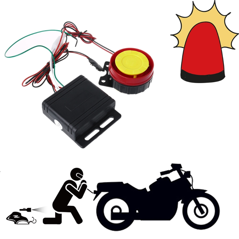 Free delivery 2018 Universal Motorcycle Bike Alarm System Scooter Remote Control Anti-theft Securit new