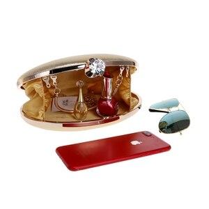 Image 2 - GLOIG damska torba wieczorowa s łańcuszek na ramię listonoszówka dżetów luksusowa mała codzienna kopertówka obiadowa torba wieczorowa