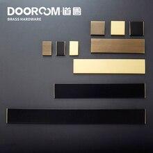 Dooroom латунные ручки мебели и шкафа комод для шкафов, ящиков коробка для обуви кухонные ручки современные черные Золотые Бронзовые тяги