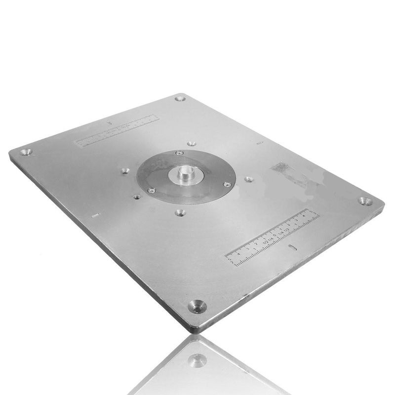 Online shop aluminum router table insert plate for wood router aluminum router table insert plate wring for diy woodworking woodworker router trimmers models engrving greentooth Gallery