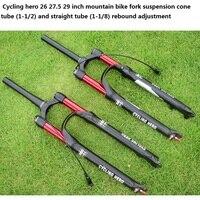 1 1/2 1 1/8 100 120MM Stroke Mountain Bike Air Suspension Fork Impact Plug Bounce Adjustment 26 27.5 29 Inch Over SR EPIXON LTD