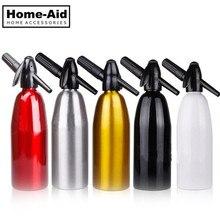 1.0L домашняя алюминиевая Сода сифон сода машина для воды сифон СО2 диспенсер генератор пузырьков для воды холодный напиток Алюминиевый Бар DIY