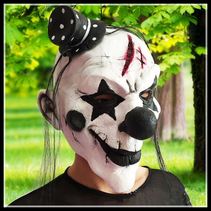 Free shipping Deluxe Clowns Face Mask Halloween Mask Scary Clown Masks for Party font b Cosplay