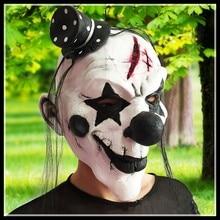 Бесплатная доставка делюкс клоуны-eat-люди маска хэллоуина маски страшный клоун маски для ну вечеринку косплей маскарад двойного действия джокер лица глава маска