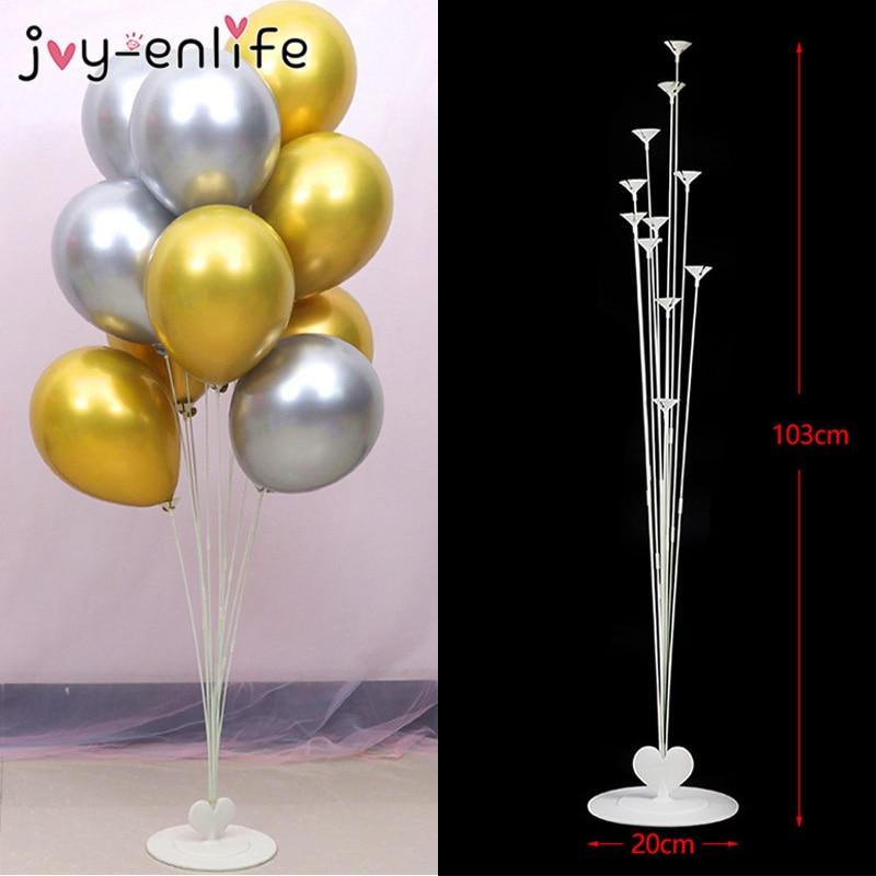 11 tubos Titular Stand Coluna Balão Balão Balões Do Chuveiro de Bebê Crianças Festa de Aniversário Suprimentos Decoração de Casamento Confetti