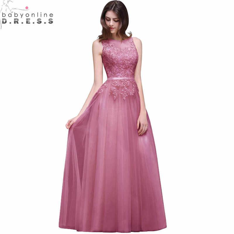 fb5e09b517a70ae Длинное вечернее платье Сексуальная Прямая спина розовое кружевное вечернее  платье 2019 дешевые вечернее шифоновое платье платья