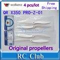 4 Шт./лот Оригинальные Винты для QR X350 Pro Quadcopter QR X350 PRO-Z-01 Walkera Запчасти Лезвия CW/CCW Бесплатная доставка