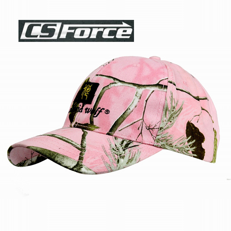 71605f461a2 CS Force Outdoor Caps for Men Women Camouflage Pink Top Quality Outdoor  Sports Military Hunting Hats Adjustable